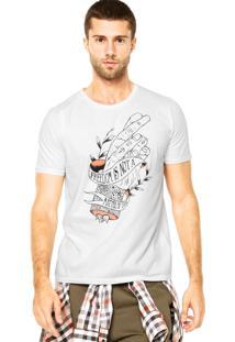 Camiseta Colcci Estampa Branca