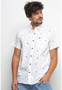 Camisa Hd Miniprint Masculina - Masculino-Branco