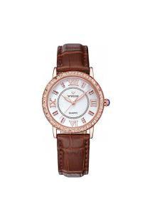 Relógio Feminino Wwoor 8807 - Marrom