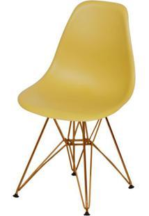 Cadeira Eames Polipropileno Acafrao Base Cobre - 49372 - Sun House