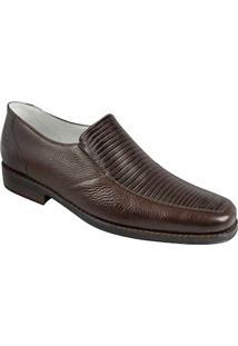 Sapato Social Masculino Bico Quadrado Side Gore Sandro Moscoloni Stanford Marrom