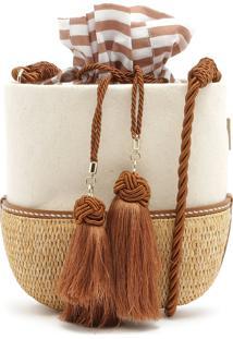Vallie Bucket Bag Rafia Cru | Schutz