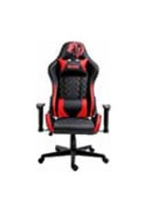 Cadeira Gamer Profissional Snake Mamba Negra Reclinavel Giratoria Preta E Vermelha 9183