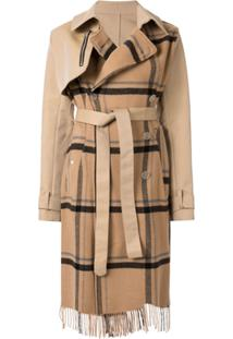 Unravel Project Trench Coat Xadrez - Marrom