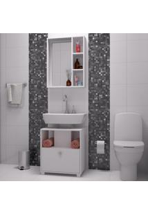 Armário De Banheiro 1 Porta Bkb02 Branco - Brv Móveis