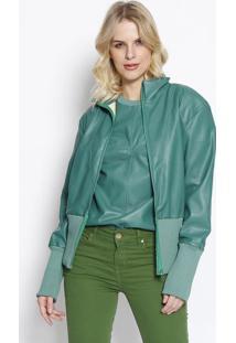 Jaqueta Com Recortes - Verde - Colccicolcci