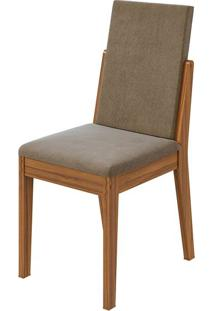 Cadeira Lira Sued Animale Bege Rovere Naturale