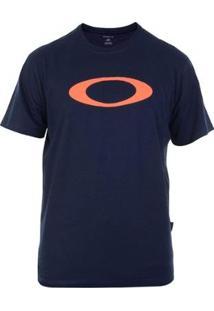 Camiseta Oakley O-Ellipse Tee Masculina - Masculino-Azul