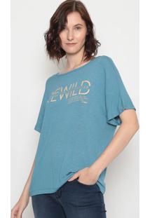 """Blusa """"Rewild""""- Azul & Bege- Forumforum"""