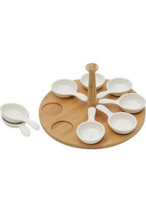 Jogo De Petisqueiras 9Pçs Porcelana 25X25X13Cm Bon Gourmet