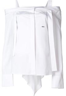 Off-White Blusa Assimétrica - Branco
