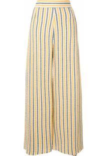 Three Graces Calça Pantalona Com Listras - Estampado