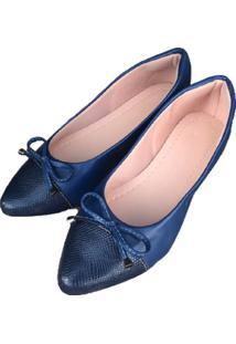 Sapatilha Azul Marinho Bico Fino - Kanui