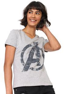 Blusa Cativa Marvel Estampada Cinza