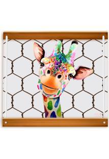 Bandeja Vickttoria Vick Girafa Divertida 45 X 35 Cm