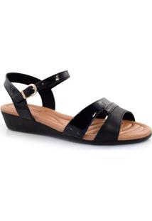 Sandália Com Salto Baixo Feminina Comfortflex