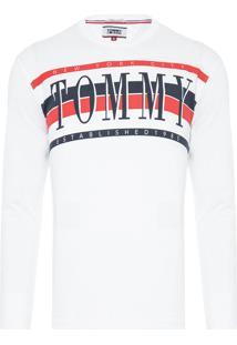 Camiseta Masculina Retro Long Sleeve - Branco