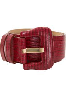 Allmost Vintage Cinto 'Lezard' Texturizado - Vermelho