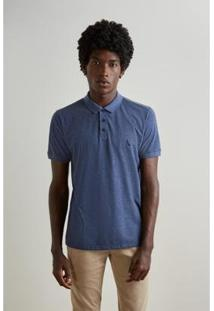 Camisa Polo Twist Pois Reserva - Masculino-Azul Petróleo