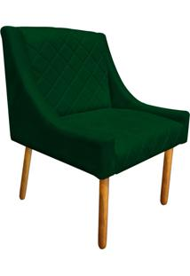 Poltrona Decorativa Paris Suede Verde - D'Rossi