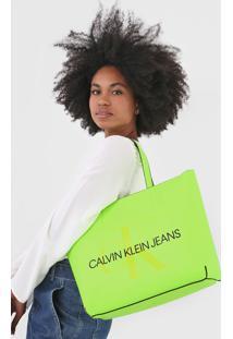 Bolsa Calvin Klein Logo Verde