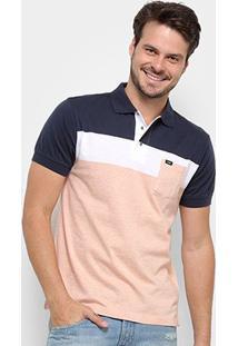Camisa Polo Gajang Euro Haarlen Masculina - Masculino-Marinho+Branco