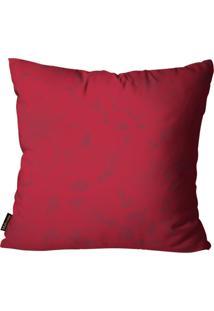 Capa Para Almofada Premium Cetim Mdecore Floral Vermelho 45X45Cm