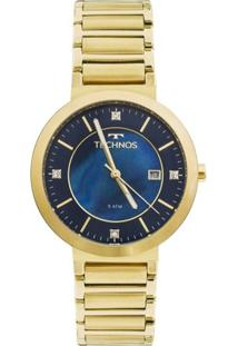 Relógio Technos St.Moritz 2115Ktj/4A Feminino - Feminino-Dourado