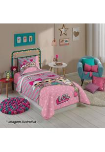 Lepper Edredom Lolâ® Solteiro Rosa Claro & Pink 150X200Cm