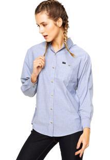 Camisa Manga Longa Hurley Love Azul
