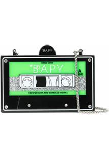 Bapy By *A Bathing Ape® Bolsa Tiracolo Cassette - Preto