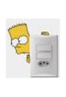 Adesivo Para Interruptor Bart Simpson