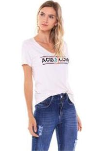 Camiseta Studio 21 Fashion Acid Love Feminina - Feminino-Rosa