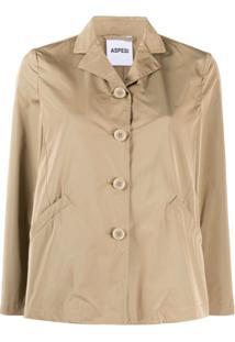 Aspesi Straight-Fit Shirt Jacket - Marrom