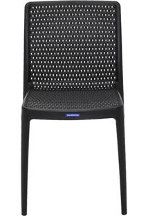 Cadeira Isabelle Pp E Fibra De Vidro Preto Tramontina