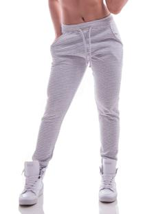Calça Jogger Advance Clothing Casual Cinza Listrada