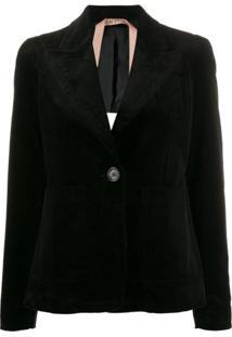 Nº21 Corduroy Style Blazer Jacket - Preto