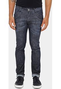 Calça Jeans Skinny Razon Super Escura Masculina - Masculino