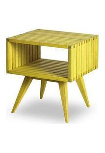 Mesa Apoio Dominoes Estrutura Amarelo 22Cm - 61480 Amarelo