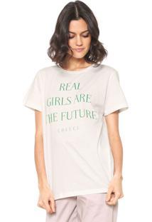 Camiseta Colcci Girls Are The Future Off-White