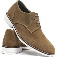 dffb1c0f9 Sapato Casual Salazari Casual Oxford Couro Masculino - Masculino-Bege