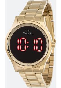 Relógio Feminino Champion Ch48019V Led Digital 5Atm