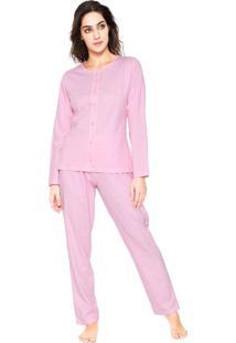 Pijama Pzama Coração Rosa