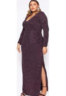 Vestido Almaria Plus Size Pianeta Longo Malha Com
