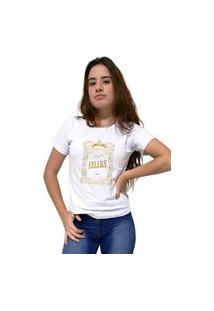 Camiseta Feminina Cellos Retro Frame Premium Branco