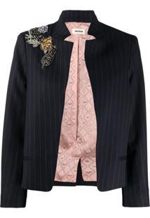 Zadig&Voltaire Vollys Pinstripe Blazer Jacket - Azul