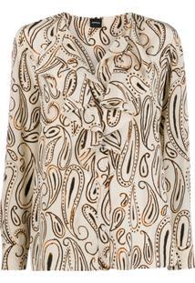 Aspesi Paisley Print Blouse - Neutro