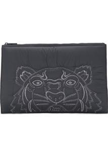 Kenzo Tiger Clutch Bag - Preto