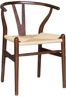 Cadeira Decorativa Sala De Jantar E Cozinha Bella Madeira Bétula Tabaco - Gran Belo