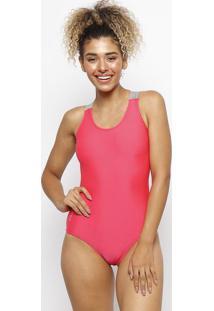 Maiã´ Swimming Com Recorte Vazado - Verde Escuro & Pinkfila